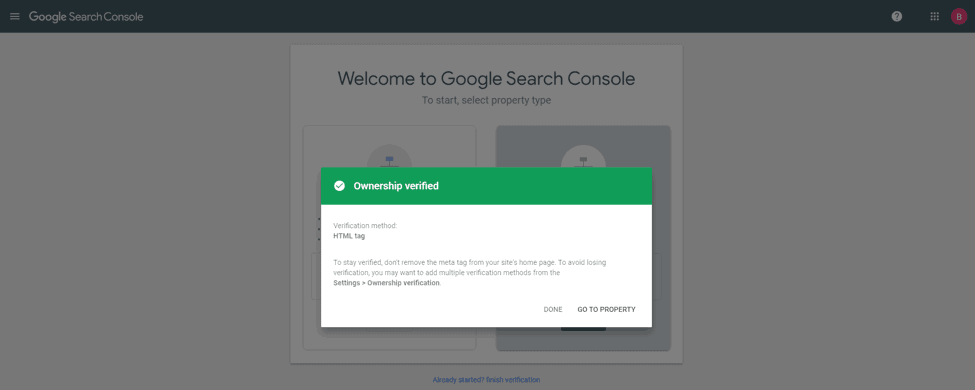Verify Google Search Console Ownership